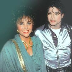 Michael with Elizabeth Taylor on the bad tour :)