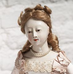 "17"" Rare Antique Early 19th C. French Shoulder Head wooden Fashion from respectfulbear on Ruby Lane"