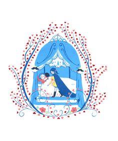 Sleeping Beauty Art Print by Yudi Chen genderswapped fairy tale art