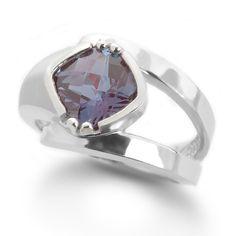 alexandrite ring.  love the sideways cushion design.