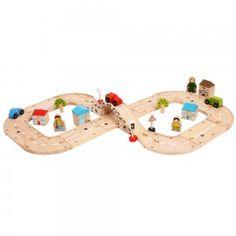 Figure Of 8 Roadway. Wooden toys. Imaginative Play. Preschooler. Preschool. Toddler. Fun. Learning. Educational. Cars
