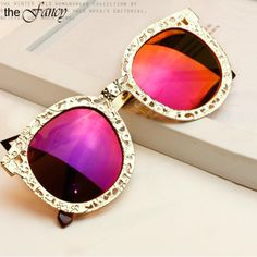 Fashion Novelty Metal hollow Coating Sunglasses Outdoor High Quality Brand Polarized Goggle Eyeglasses New 2014 Women 5 Color US $14.99