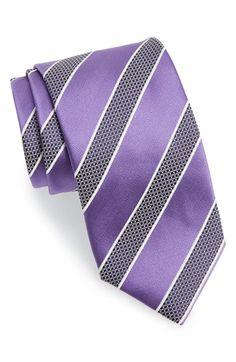 Men's Canali Stripe Silk Tie