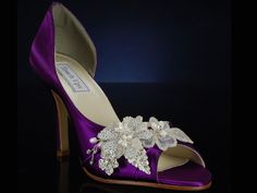 African Violet shoes with bling!