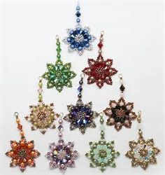 Image result for Free Patterns Beaded Ornament Instructions