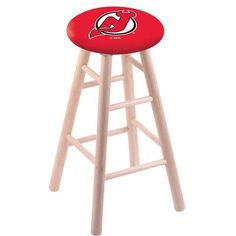 "Holland Bar Stool NHL 24"" Bar Stool with Cushion Finish: Natural, NHL Team: New Jersey Devils"