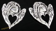 DD1317 ELEMENT BALI ANIOŁEK 44mm 1szt Bali, Lion Sculpture, Skull, Statue, Sculptures, Skulls, Sugar Skull, Sculpture