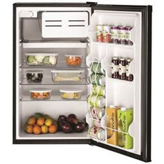 Attrayant Ge 4.4 Cu.Ft. Compact Refrigerator, Black, Reversible Door Swing