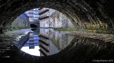 The River Calder, Parker Lane, Burnley, Lancashire, England. 22nd April 2015.