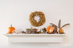 For a gorgeous seasonal mantel, pair natural elements with our handblown glassware. All of our products are made by expert glass blowers in Vermont. To view our stunning product line, visit simonpearce.com.