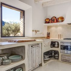Vicky's Home: Casa rústica de estilo mediterráneo /Rustic Mediterranean style home Kitchen Interior, Concrete Kitchen, Traditional House, Home, Kitchen Remodel, Home Kitchens, Rustic Kitchen, Kitchen Design, Rustic House