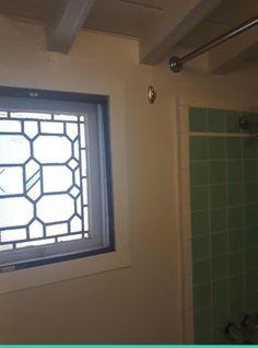 Bathroom window in