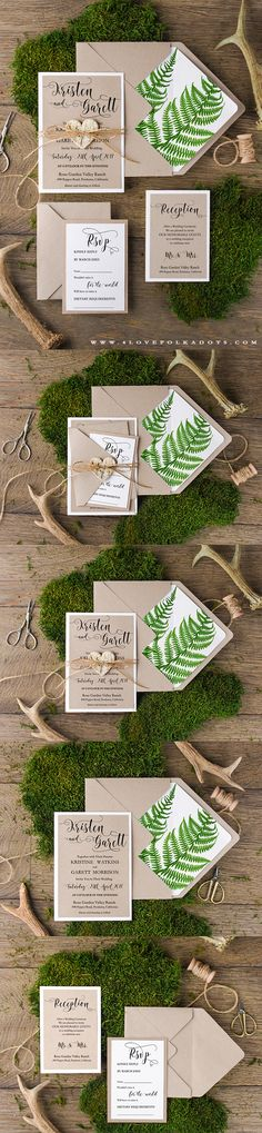 Eco Wedding Invitations with Wooden Birch Bark Heart Tag #ecofriendly #handmade #rustic #boho #weddingideas