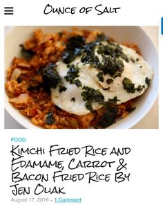 This recipe is a 2-in-1! I have picky eaters in my family. This Kimchi Fried Rice and Edamame, Carrot and Bacon Fried Rice recipe was able to satisfy both my kids' tummies. Click the link to read how I did this.