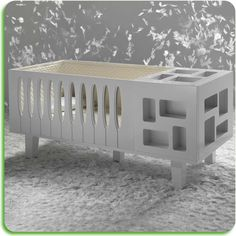 A baby crib with style, made by Baby Suommo