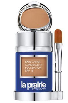 La Prairie Skin Caviar Concealer Foundation, $215 https://www.laprairie.com/default/caviar-collection/skin-caviar-concealer-%E2%80%A2-foundation-sunscreen-spf-15/MV0019.html