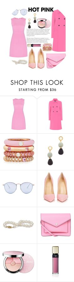 """""""Untitled #138"""" by aluin ❤ liked on Polyvore featuring Diane Von Furstenberg, Valentino, Adolfo Courrier, Lizzie Fortunato, Ray-Ban, Christian Louboutin, Marc by Marc Jacobs, Guerlain, Clé de Peau Beauté and contestentry"""