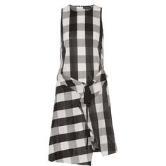 rag & bone Brighton layered gingham poplin dress (33,970 PHP) ❤ liked on Polyvore featuring dresses, poplin dress, button dress, layered dress, rag bone dress and oversized dresses