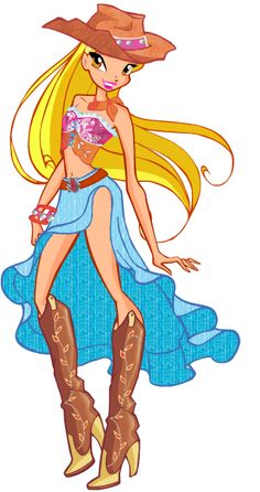 Stella cowgirl The Winx club