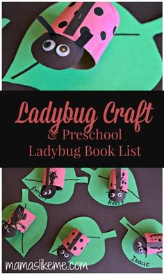 Mamas Like Me: Toilet Roll Ladybug Craft & Preschool Ladybug Book List