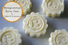 mini monogrammed butter pats #springmakes