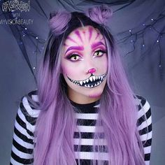 Halloween inspo Cheshire Cat @myvisionbeauty | #makeup