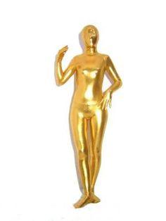 Gold Shiny Metallic Unisex Zentai Suit