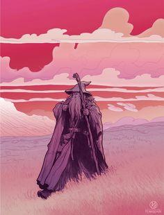 Lord of the Rings/The Hobbit - Gandalf Stormcrow by PJ McQuade Gandalf, Legolas, Jrr Tolkien, Fellowship Of The Ring, Lord Of The Rings, O Hobbit, Ian Mckellen, Arte Cyberpunk, Geek Art