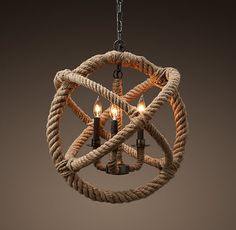 Rope Planetarium Chandelier Small | Chandeliers | Restoration Hardware. Nautical for peninsula!