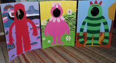 Yo Gabba Gabba party ideas- photo props (look into someone painting these for us)