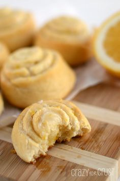 Easy No-Rise Lemon Sweet Rolls by www.crazyforcrust.com | Made with refrigerated (crescent roll) dough to make your life easy! Sweet and tart and perfect for breakfast. #lemon #pillsbury #sweet  (NOTE TO ME:  Use this as a basis for savory versions-no sugar, no glaze, add savory)