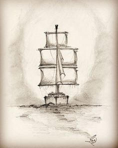 Sail 15 - in Pencil. #drawing #pencil #art #sailboat #sail #pencildrawing…