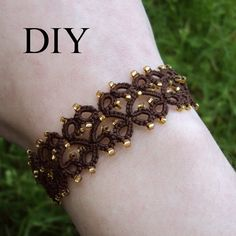 PDF Tatting Pattern Lillian Bracelet With and Without Beads