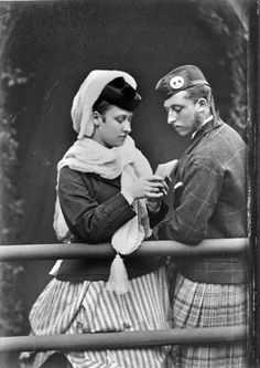 Princess Louise, Duchess of Argyll with her brother Prince Arthur, Duke of Connaught and Starthearn