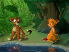 Another crazy idea. I just love theme about species swap. So, since Simba and Bambi are both princes, and sometimes other artists draw them together, I . Bambi Disney, Disney Fan Art, Cute Disney, Disney And Dreamworks, Wolf With Red Eyes, Bambi Art, Lion King Pictures, Deer Drawing, Lion King Fan Art
