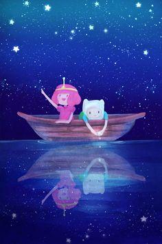 Adventure Time (Hora de Aventura) Princess Bubblegum and Finn tangled Adventure Time Anime, Adventure Time Wallpaper, Sky Adventure, Marceline, Princesse Chewing-gum, Abenteuerzeit Mit Finn Und Jake, Finn Jake, Desenhos Cartoon Network, Adveture Time