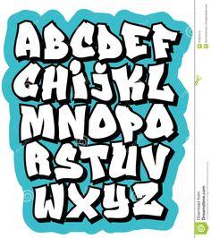 Graffiti Schrift ABC, Graffiti Buchstaben, Graffiti Schrift Alphabet
