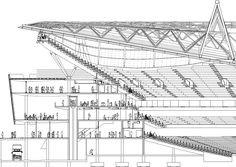 Architectural Drawing Design LONDON - Emirates Stadium - Page 57 - SkyscraperCity Architecture Drawings, Concept Architecture, Architecture Details, Architecture Models, Architecture Graphics, Genius Loci, Big Building, Building Design, Stadium Architecture