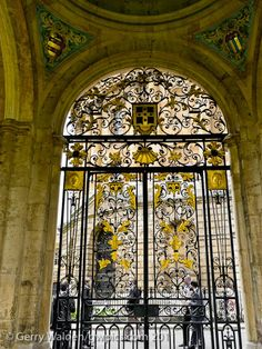 Wrought Iron Gate  The ornate wrought iron gate at the entrance to the Great Quadrangle of All Souls College, Oxford