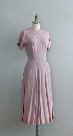 40s vintage crepe dress in Lilac