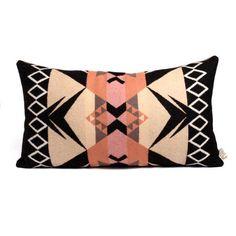 Rose Pillow Large Black