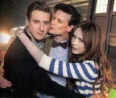 Doctor Who BTS - Arthur Darvill, Matt Smith and Karen Gillan