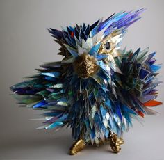 Amazing Animals Made from Recycled CDs and Other Computer Junk