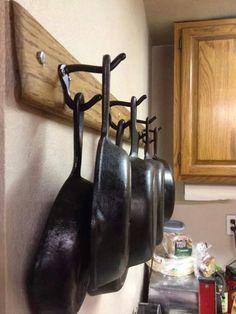 New Kitchen Storage Shelf Hanging Pots Ideas Iron Storage, Pantry Storage, Kitchen Organization, Kitchen Storage, Organizing, Small Storage, Storage Rack, Storage Cabinets, Display Cabinets