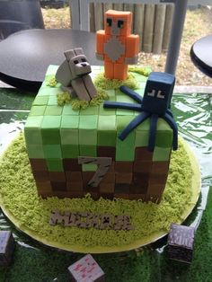 Minecraft party Stampy cake Minecraft cake: