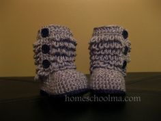 Ugg inspired Baby Boots Crochet by Kaay