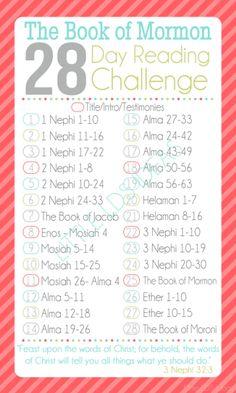28 Day Book of Mormon Challenge - Little LDS IdeasLittle LDS Ideas