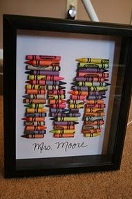 Letter frame with crayons cute end of year teacher's gift!