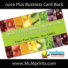 Choose From One Of Our Free Juice Plus Business Cards Template Templates At Overnight Prints Or Upload Your Own Design How Do I Create A Card