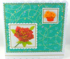 Blumengrüße. Grußkarte für viele Anlässe. Mit eine Rose. Für die Frau.